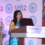Chief Guest Dr. Kavita Gupta presenting inaugural address