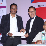 Chillagu Mittal (ICT) receiving award by Dr. Kim Gandhi