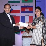 Pallavi Badhe (ICT) receiving award by Dr. Kim Gandhi