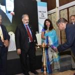 Mr. H.N. Jain, Vice President, TAI lightening the lamp