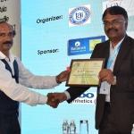 Mr. Kannan Krishnamurthy offering the participation certificate to Mr. M.M. Chockalingam