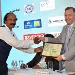 Mr. Kannan Krishnamurthy offering the participation certificate to Mr. Mrugank Paranjape