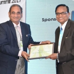 Mr. V.D. Zope offering the participation certificate to Mr. Ishtiaq Ali