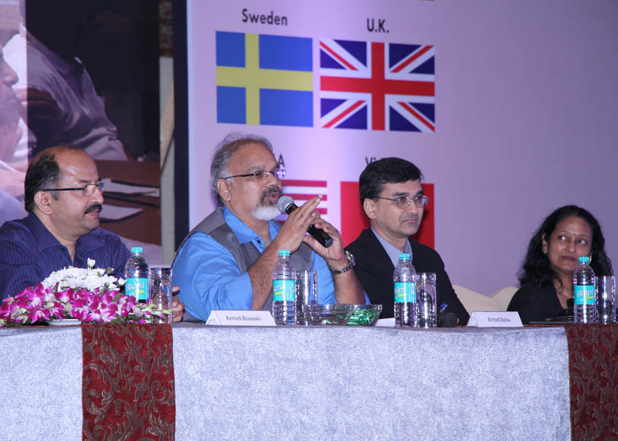 Arvind Sinha chairing the Session