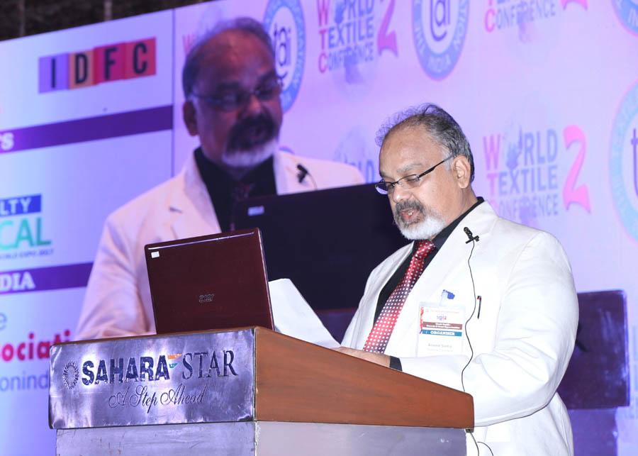 Arvind Sinha delivering welcome address