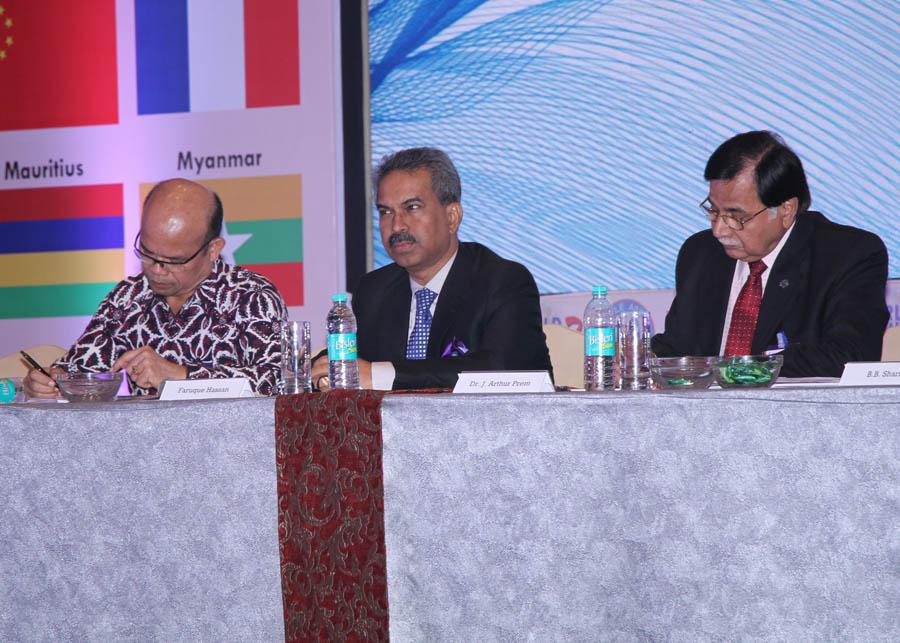 L to R H.E. Saut Siringoringo, Farique Hassan & Dr. Arthur Prem